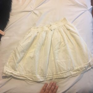 Off white eyelet lace detailed skirt